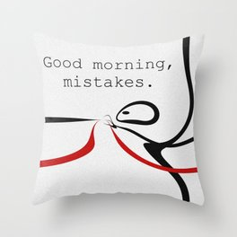 Mistakes Throw Pillow