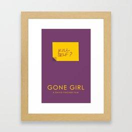 Gone Girl Inspired Print Framed Art Print