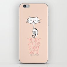 Time With Cats iPhone & iPod Skin
