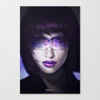 ghost in the shell Canvas Prints featuring Ghost in the shell by ImmarArt