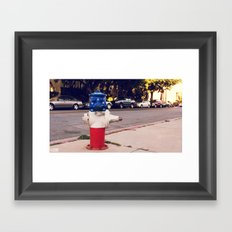 Hydrant National ∫ Living Los Angeles Framed Art Print