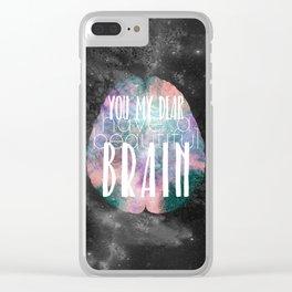 Beautiful Brain Clear iPhone Case