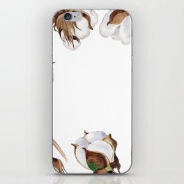 Cotton Flower Frame 01 iPhone Skin
