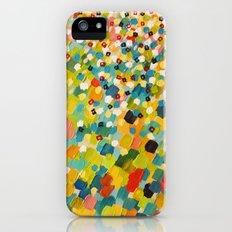 SWEPT AWAY 3 - Fresh Green Colorful Rainbow Ocean Waves Mermaid Splash Abstract Acrylic Painting Slim Case iPhone (5, 5s)