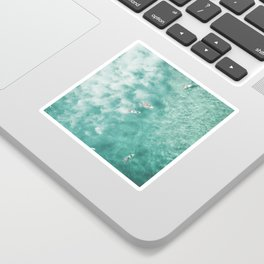 Surfing in the Ocean Sticker