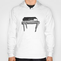 piano Hoodies featuring Piano by Melilarebelle