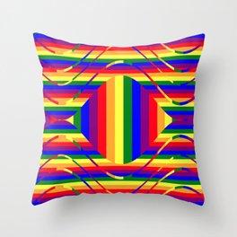 Pride Rainbow Stylized  Throw Pillow
