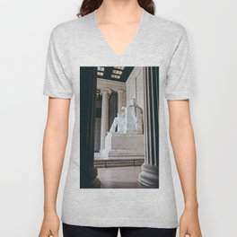 On His Marble Throne Unisex V-Neck