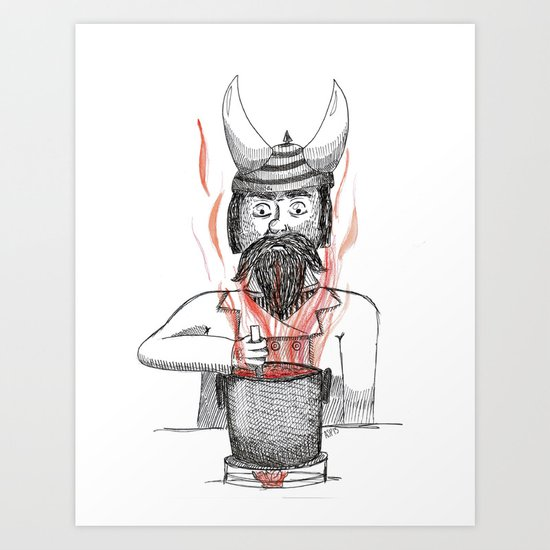 Cooking  Art Print