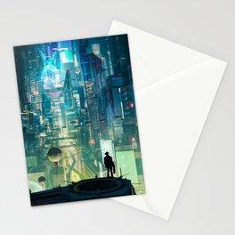 Cyberpunk City Stationery Cards
