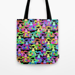 Colourful Cartoon Dragon Pattern Tote Bag