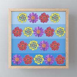 Stacks of Flowers Framed Mini Art Print