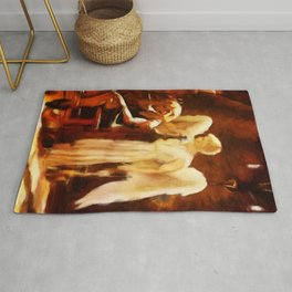 SOLACE Grieving Woman With Angel Rug