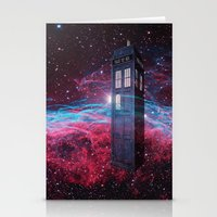 dr who Stationery Cards featuring Dr Who police box  by store2u