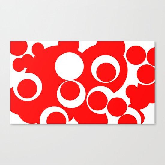 red circles Canvas Print