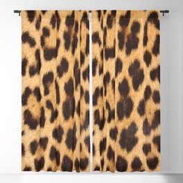 primitive trendy stylish fashionable safari animal leopard Blackout Curtain