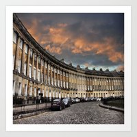 bath Art Prints featuring Bath by  Alexia Miles photography