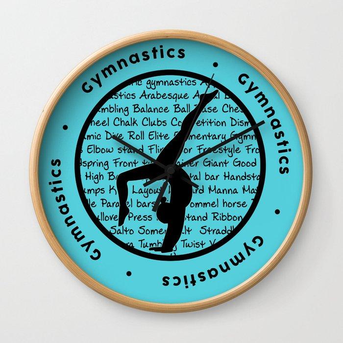 Gymnastic Circle blue Wall Clock