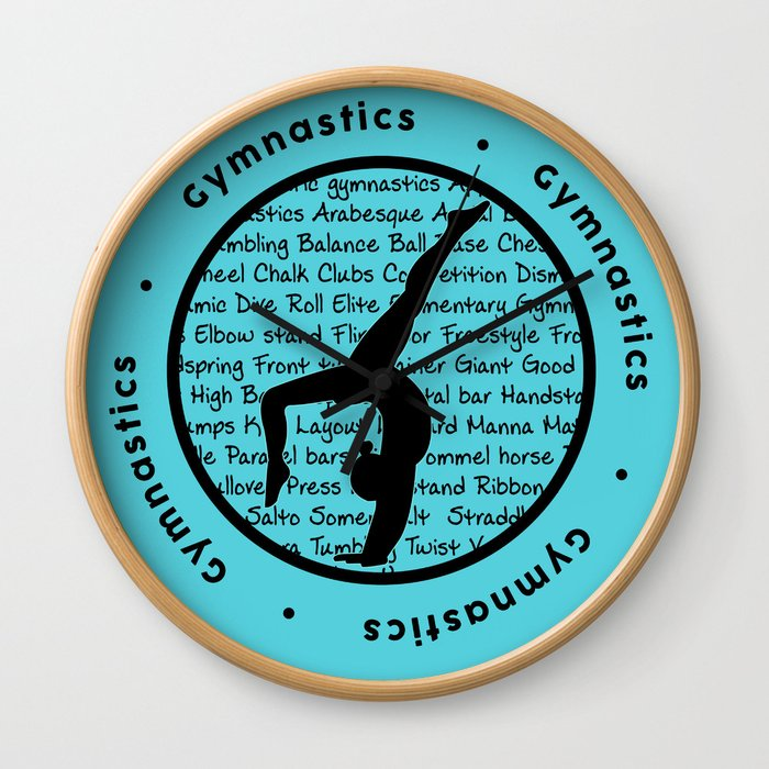 Gymnastic Circle blue Wall Clock