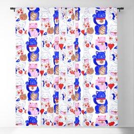 Maneki Neko Lucky Cats Blackout Curtain