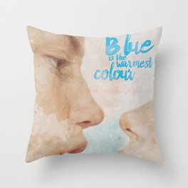 Blue is the warmest colour - chapter one - hand-painted movie poster - Throw Pillow