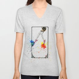 Kicking Up The Color Swing Unisex V-Neck