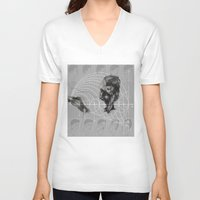 fibonacci V-neck T-shirts featuring Fibonacci by eglerama