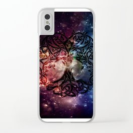 Viking Tree of life Clear iPhone Case
