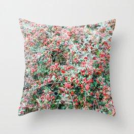 Creeping Cotoneaster Throw Pillow