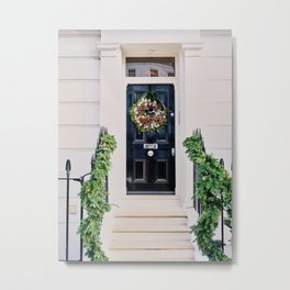 Notting Hill Black Holiday Door Metal Print