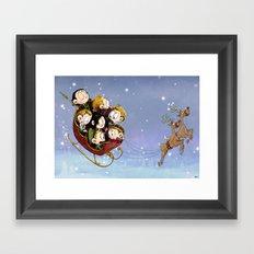Little Hiddles Christmas Time Framed Art Print