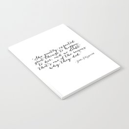 She quietly expected great things Notebook