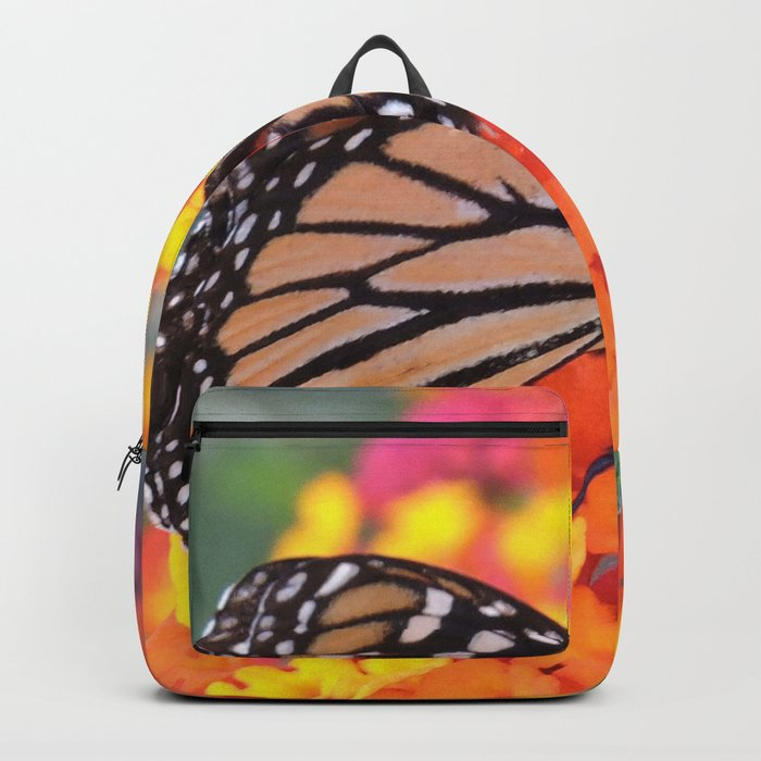 Monarch Feeding on Lantana Backpack