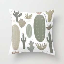 Cactus meadow Throw Pillow