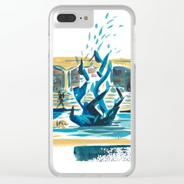 Stanford Bookstore Fountain Clear iPhone Case