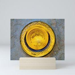 Round Yellow Glass Bottom Mini Art Print