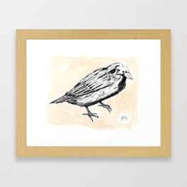 Ever yet was blessed  with seeing bird above his chamber door. Framed Art Print