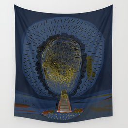 Tree Cactus in a Blue Desert Wall Tapestry