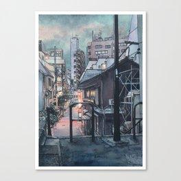 Tokyo at Night #07 Canvas Print