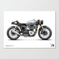 moto Canvas Prints featuring Moto 33 by Holographic Hammer