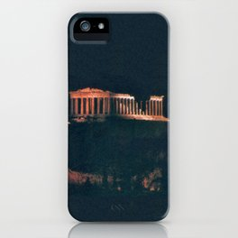 Parthenon at Night iPhone Case