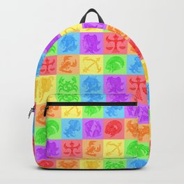 Zodiac Zentangle - All signs (Rainbow Ver.) Backpack