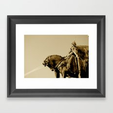 Magyar Chief in the Heroes Square, Budapest.  Framed Art Print
