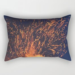 Fire and Sparks Rectangular Pillow