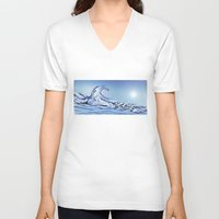 rogue V-neck T-shirts featuring Rogue Wave by John Early