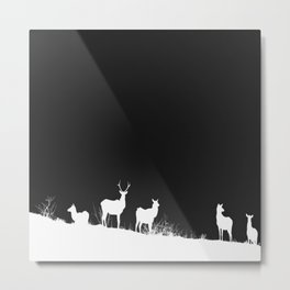 White Hart in the night Metal Print