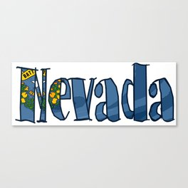 Nevada Font with Nevadan Flag Canvas Print