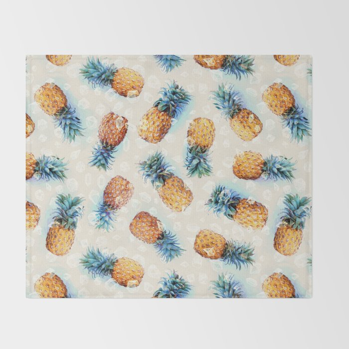 Pineapples + Crystals  Throw Blanket