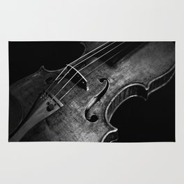 Black and White Violin Rug