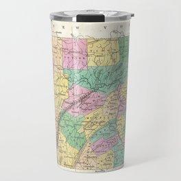 Vintage Map of Pennsylvania (1827) Travel Mug